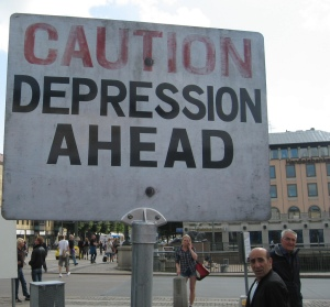 caution depression ahead